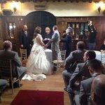 wedding vows at the Grasshopper Inn