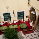 The view of the internal courtyard from our room