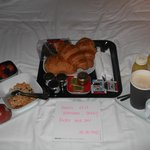 the breakfast we had delivered
