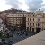 dal balcone P.zza Bovio, corso Umberto e Certosa