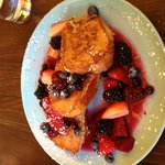The Brioche French Toast with berries is scrumptious here. But so is everything else on the menu