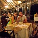 Cena y una magica vista desde el restaurante