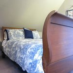 The antique Sleigh bed