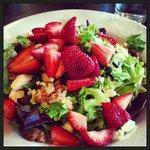 HALF of a Strawberrry Walnut Salad