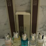 Molton Brown goodies in bathroom