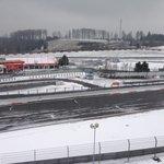 Grand Prix track in snow