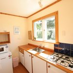 Each cottage has its own kitchen.