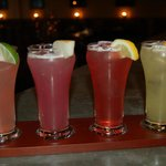 Fruity margarita flight