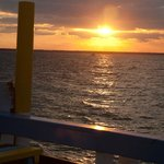 Sea of Abaco from the deck of Sundowners