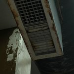 vents in the pool area are rusted and gross