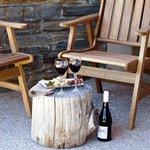 Cheese platter & local wine