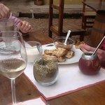 The classic Argentinian combination of Maté, dulche de leche and toast!