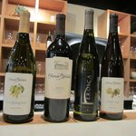 Wines featured for tasting after the tour