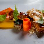 Scampi, Sweetbreads, Carrot Quinoa