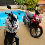 Automatic motorbikes for rent