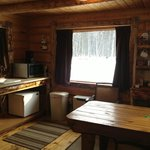 Kitchen/Dining at Snoozing Moose Cabin