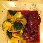 Lamb Chop in a Pomegranate & Ruby Port Sauce