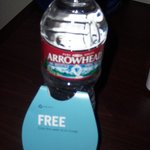 "Room 104: 1 Bottle ""FREE"" Water for 2 Guests: FAIL"