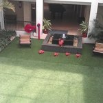 Covered Lawn inside the Hotel...Boon for families with children