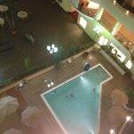 indoor pool in atrium