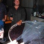 Paul demonstrates his fermentation process.