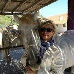 à la manade, rentrant de promenade avec Pepito