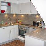 Wohnküche in der Ferienwohnung Midi