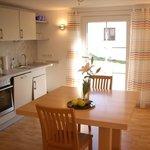 komfortable Wohnküche in der Ferienwohnung Maxi