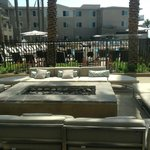 Firepits out by the pool