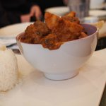 Curry at a French African bistro