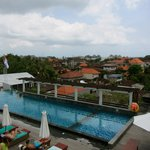 Poolside rooftop