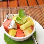 Fruit Salad ---- dessert from Menu Degustation.