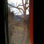 veduta dalla finestra del bagno