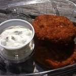 super yummy crabcakes with a fresh dill tartar sauce