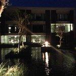 reflection pool at night