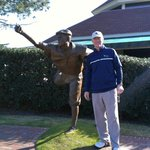 In front of the club house with Payne Stewart
