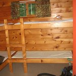 A bunkhouse at Hungry Jack Outfitters