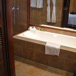 Bathtub in premium beach bungalow