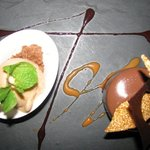 Chocolate mousse and sea salt caramel ice cream at Le Lotus!