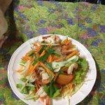 Spicy shrimp salad