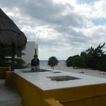 Roof deck with small plunge pool, hammock
