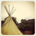 One of the four tipis