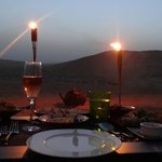 diner by design dans le desert