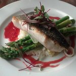 Black cod, asparagus, lemon risotto