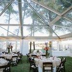 Tented wedding reception.