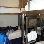 Habitación cuádruple, el tamaño de las paredes eran el largo de las cuchetas
