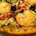 shrimp pizza was fantastic.