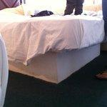 la base chica o el colchón grande? no lo sé, lo cierto es que no podías acercarte a la orilla