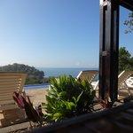 Blick vom Restaurant über den Poll zum Meer