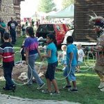 Fall Festival at the pioneer village at Scott County Park
